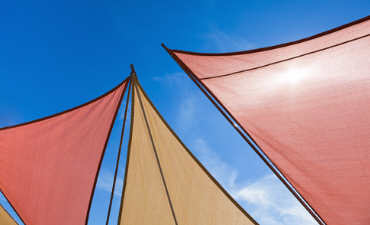 Multi coloured sails image