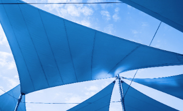 Mulitple blue shade sails image